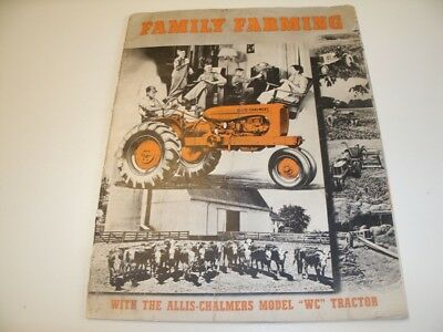 Vintage Allis Chambers WC Tractor Brochure - 1940's ??