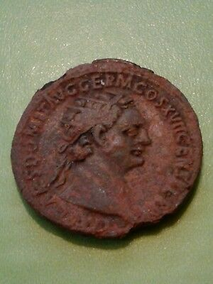 Ae Dupondius Domitian 11G Rome Mint Struck 95/6 A.d.some Corrosion Aply.