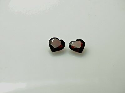 Matched Pair Beautiful Heart Shaped Garnets