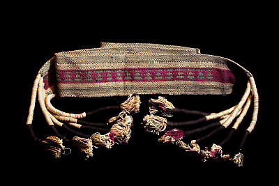 Naga Warrior's Authentic Antique Head Hunter's Textile Belt!