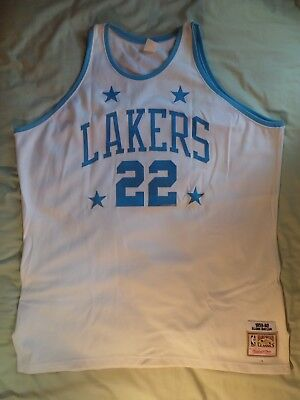 5a731c6ed Mitchell Ness M N Los Angeles LA Lakers Authentic Elgin Baylor Jersey sz 54  2XL