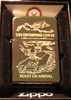 USS ENTERPRISE CVN 65 Ready on Arrival Zippo Lighter NEW IN BOX