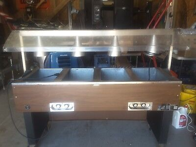Eagle  ELECTRIC 4 WELL STEAM TABLE BUFFET WITH HEATED SNEEZE GARD