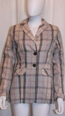 Barbour Plaid Cotton Blazer/jacket Size 6 *nwt*