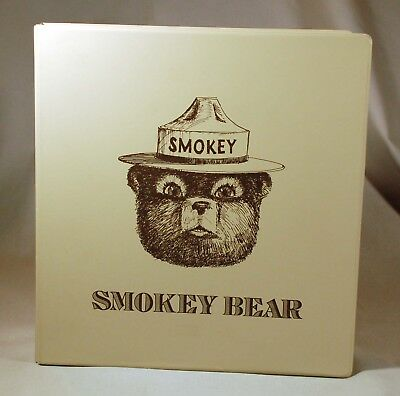 Smokey Bear Stamp Collector's album with collectors stamps