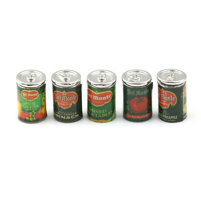 Mini Fruit Canned Dollhouse Miniature Food Kitchen Doll Accessories Xmas Gift ES