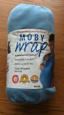 Moby Baby Wrap Blue~For babies up To 35 Pounds~slightly used
