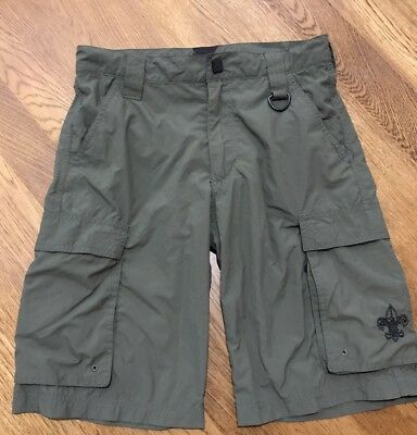 Boy Scouts Shorts Uniform Cargo Size Youth XL Nylon
