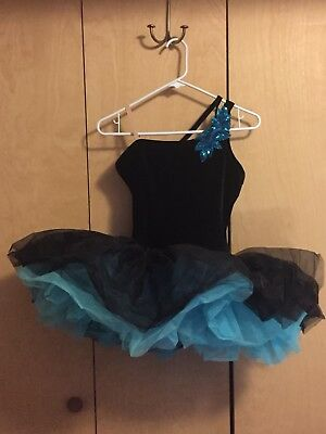 Adult Medium Black & Blue Tutu Ballet Costume