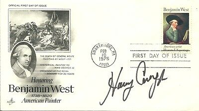 Harry Carey Jr Signed Fdc, Actor In Numerous John Ford Westerns