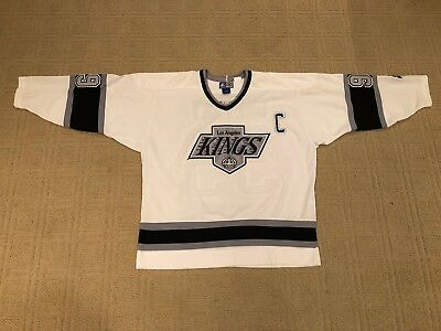 a35c44c0 XL Wayne Gretzky White Los Angeles Kings Starter Jersey Fully Stitched