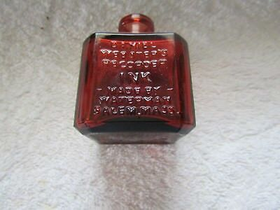 """Wheaton Ruby Red """"webster's Recorder"""" United States Seal Ink Bottle N.j."""