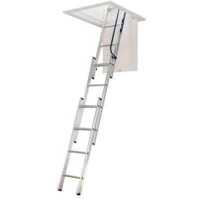 """Werner Aluminum Compact Attic Ladder 7' - 9' 10"""" Height 250lb AA1510B Brand New"""