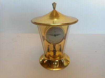 Small Vintage Anniversary Clock w/Figures on Pendulem 8 Day Clock Non-Working