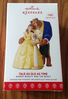 2017 Hallmark TALE AS OLD AS TIME Beauty and the Beast MAGIC Ornament DISNEY