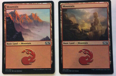 Magic The Gathering Basic Land - Mountain Foil X 2 Red Common M15 MTG