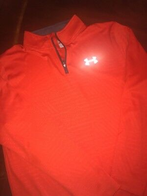 Under Armour Boys Orange Pullover Youth XL