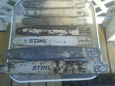 "STIHL OEM chain saw bars, lot of 7, 20"" 18"" 16"" 14""  USA48 shipping"