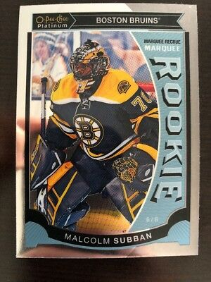 2015-16 UD Opee Chee Platinum Marquee Rookie #M5 Malcolm Subban Pack Fresh