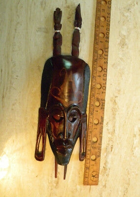 African Nandi Or Masai Mask With Wooden Knives