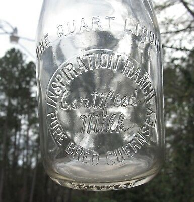 FL Inspiration Ranch Palma Sola Bay J. A. Frohock Bradenton Florida* Milk Bottle