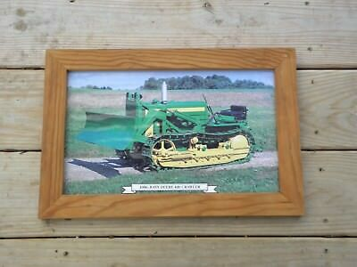 '56 John Deere 420 Crawler Orchard Dozer Farm Tractor Framed Picture Celina Ohio