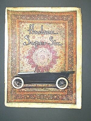 1915 Advertising Booklet for the Hudson Super Six With Numerous Illustrations