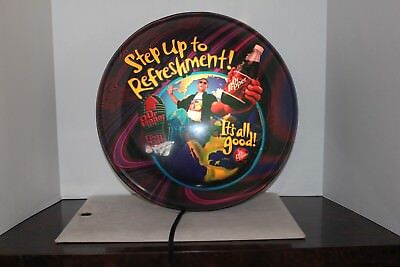 """Lighted Dr. Pepper Sign - """"Step Up To Refreshment"""""""