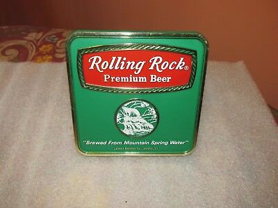 "Vintage ROLLING ROCK Premium Beer Sign ""Brewed from mountain spring water"" RARE"