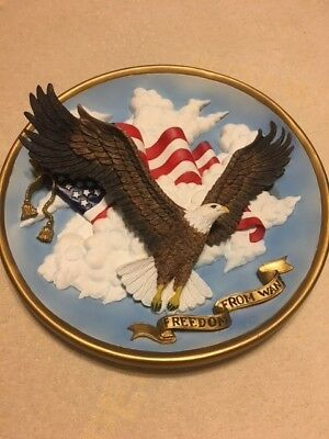1995 Lenox Freedom From Want Eagle Plate