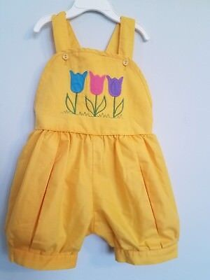 Vintage Girls Rosebud Duds 2T-3T Embroidered Jon Jon, Boutique Romper Outfit!