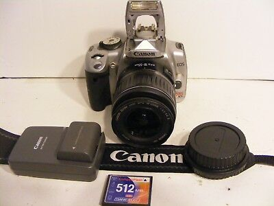 Canon EOS XTi 10.1MP DSLR W/ 18 to 55mm lens & bundle