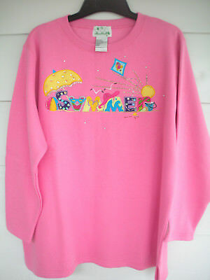 Quacker Factory SUMMER Embroidered Sweatshirt sz 1X
