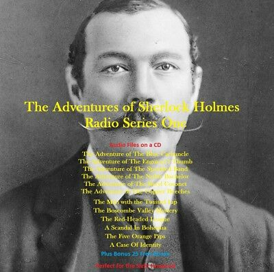 CD - Sherlock Holmes - The Adventures - Series 1- Radio Shows +25 Free Audio Bk