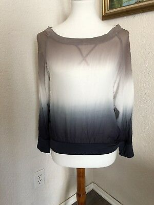 e71788a8a410 Young Fabulous And Broke Womens Ombre Long Sleeve Top Size Small