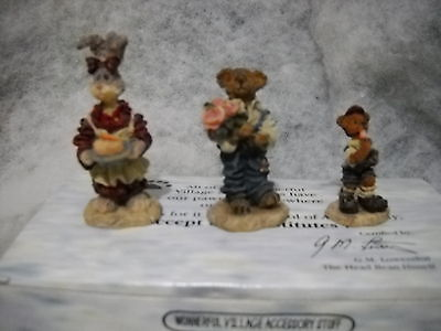 BOYDS  Bearly Built Villages ACCESSORY SET STYLE #19502-1 BAILEY'S COZY COTTAGE