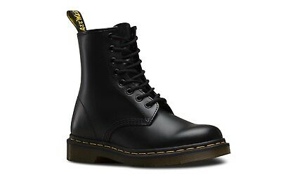 DOC Dr. Martens 1460W Black Smooth 8 Eye Lace Up Boots #11821006 - Size 11