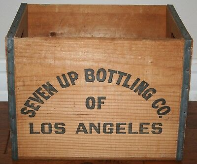 7-Up Bottling Co. Wooden Crate 1970s