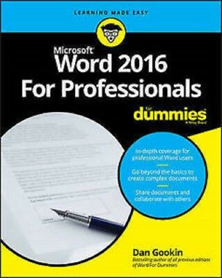 Word 2016 for Professionals for Dummies  Read on PC/Phone/Tablet