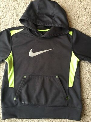 Boys Nike Therma-Fit Lightweight Pullover Hoodie Gray With Yellow - For Size 7