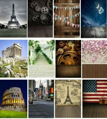 5X7ft Scenic Effiel Tower Flower Photography Backgrounds Seaside Photo Backdrops