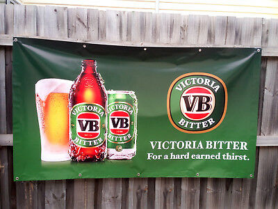 Victoria Bitter VB Beer PVC Vinyl Banner Flag Poster Sign 1000x1800mm Fast Post