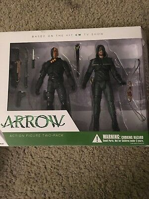 DC Collectibles Arrow CW TV Series Oliver Queen Deathstroke Two-Pack MIP