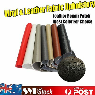Waterproof Litchi Grain Style Leather Repair Patch & Vinyl For Marine Car Seats