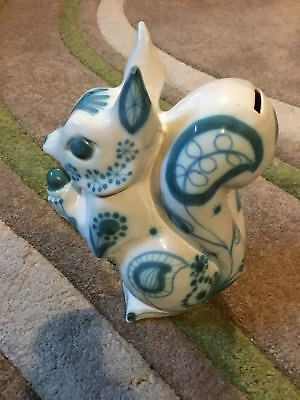 David Sharpe Rye Pottery Squirrel Money Box, Piggy Bank With Stopper