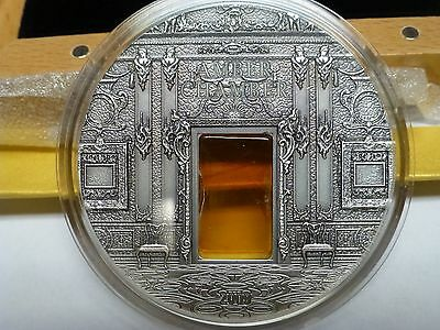 Palau 2009 Mineral Art – The Amber Chamber I 2 Oz Silver Coin
