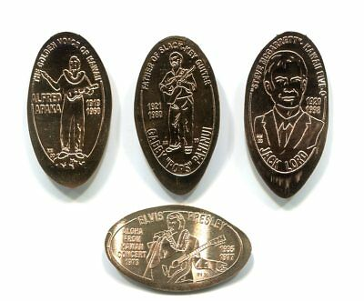 "Hawaii Elongated Cent Set: Statues of Hawaii-""Entertainers"" Set of 4 CopperCents"