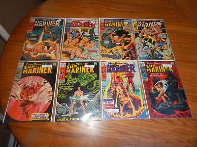 "Large Silver Age Lot Of 8 Comics ""The Sub-Mariner"" #'s 11 to 15,17,18,28,29  FN"