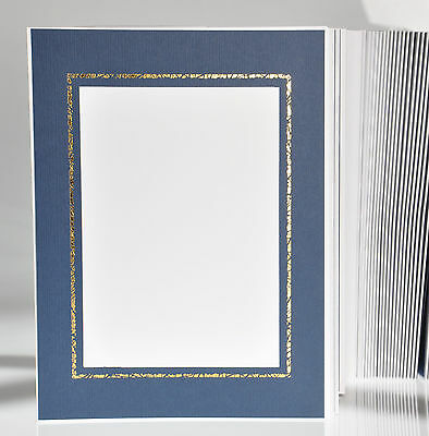 Picture Folder/Leporello for 100 Photos 13x18 - Blue with Gold Edge - fa456g