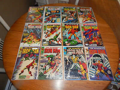 WOW GREAT Silver Age Lot Of 12 Early Iron Man Comics #'s 5-25 FN/FN+ Avg. Cond.
